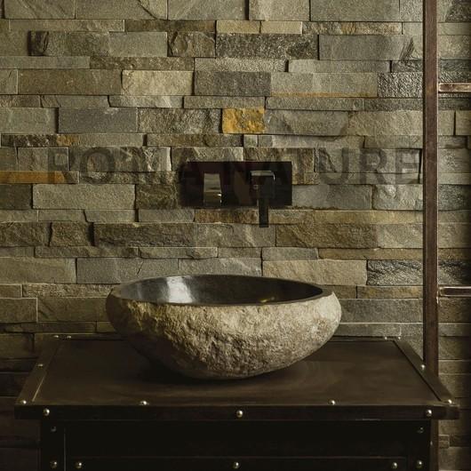 L'association subtile des matériaux sublimera chacun de vos aménagements déco 🔨🏡 #romanature #vasque #salledebains